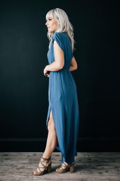 Prague Blue Maxi Dress