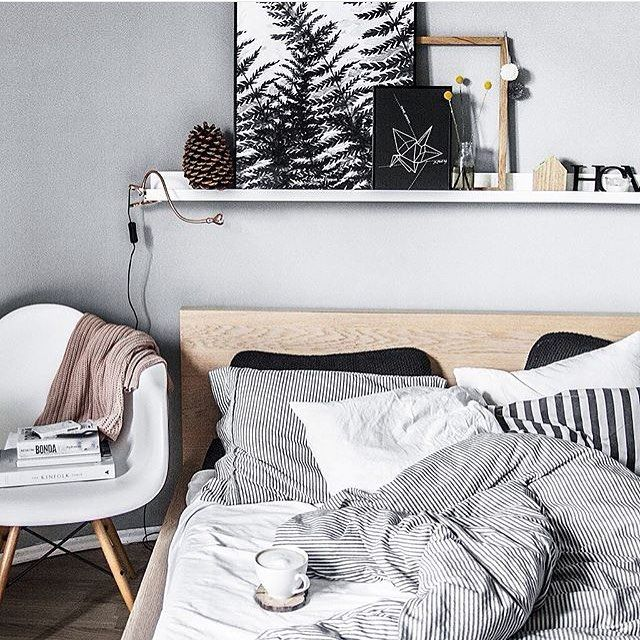 Super inspiratie voor het stylen van je slaapkamer de for Plank boven bed