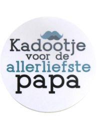 Sluitzegels 'kadootje voor papa' per 10 stuks