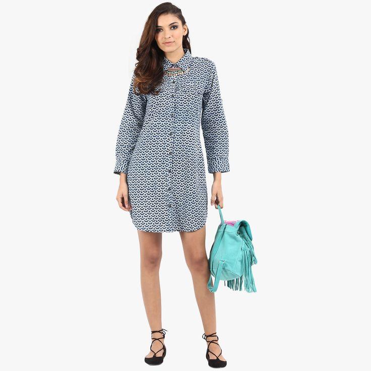 Gia Printed Shirt Dress