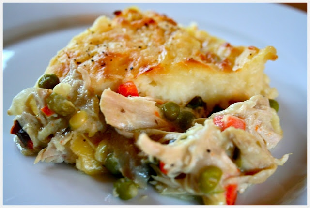 Chicken Pie with Mashed Potato Crust (Just use my chicken pie and top ...