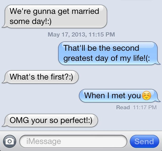 :O I would die for a text like that
