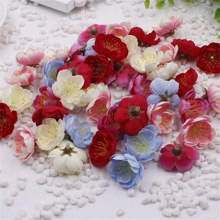 10 STKS Mini Stof Cherry Pruimenbloesem Kunstbloem Zijde Baby Adem Bloemen Boeket, Tafel Regelingen Weddding Decoraties