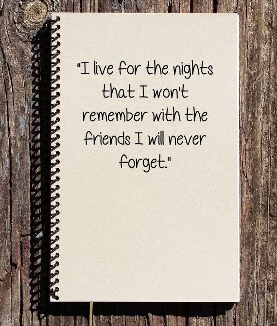 Friendship Journal - Friendship Gifts - Friends I Will Never Forget - Best Friends - Graduation Gift - Bachelorette Party