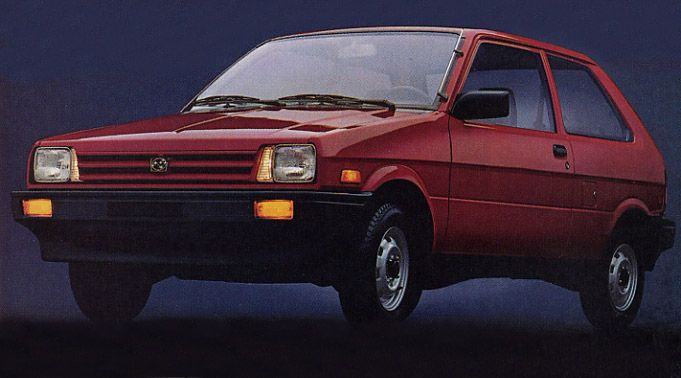 1987 Subaru Justy. The first car I bought with my own money, and my first manual drive