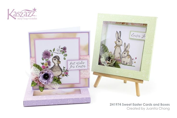 2H1974 Sweet Easter Cards and Boxes