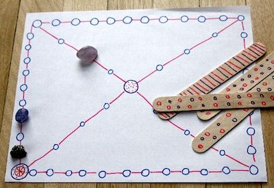 Yutnori game... DIY (traditional Korean game) I am going to make this with my kids tomorrow as part of an integrated culture lesson