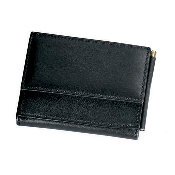 Royce Leather Money Clip Wallet, Black
