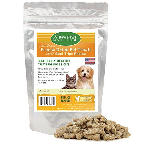 Raw Paws Pet Premium Freeze Dried Green Tripe for Dogs  Cats 4ounce  100 Grass Fed Beef  Made in the USA GrainFree Diet * You can find out more details at the link of the image.
