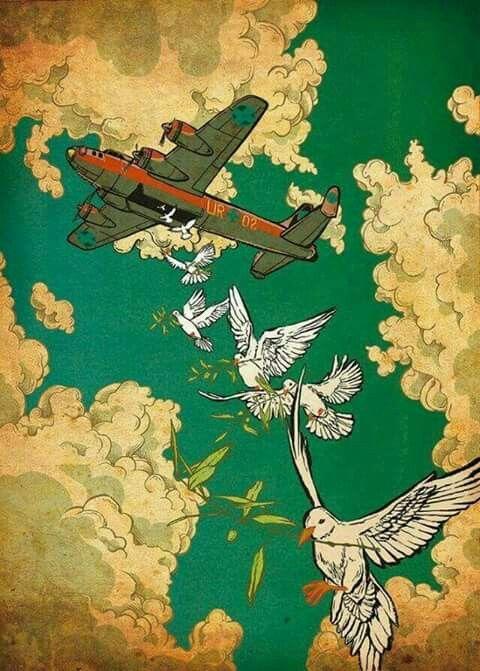 Against War Illustration  Jilipollo