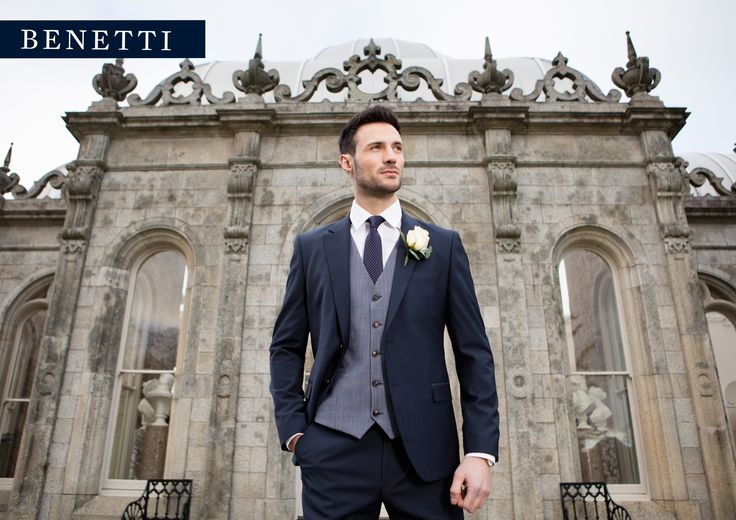 Cusack Navy Tailored Fit Suit by Benetti