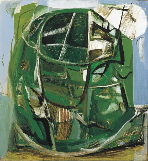 Peter Lanyon - Travalgan (1951)  Oil on board, 121.9 x 114.3 cm