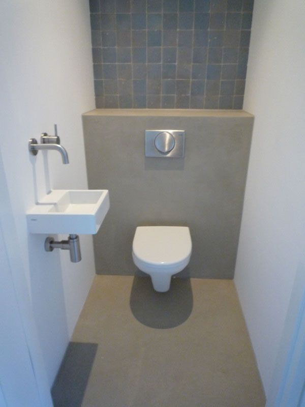 Forced Bathroom Remodel In: Toilet Beton Cir With Wc Fontein Ikea