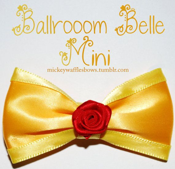 Mini Ballroom Belle Hair Bow by MickeyWaffles on Etsy