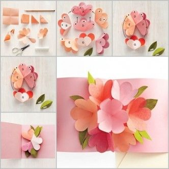 New origami 3d flower pop up card mightylinksfo