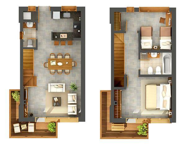 Planos duplex 2 dormitorios buscar con google duplex for Programa para distribuir una casa