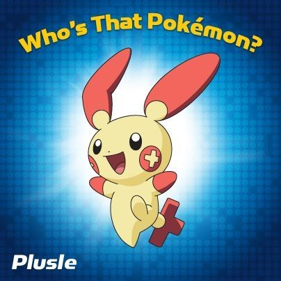 TV: WHO'S THAT POKEMON! TV: PLUSLE