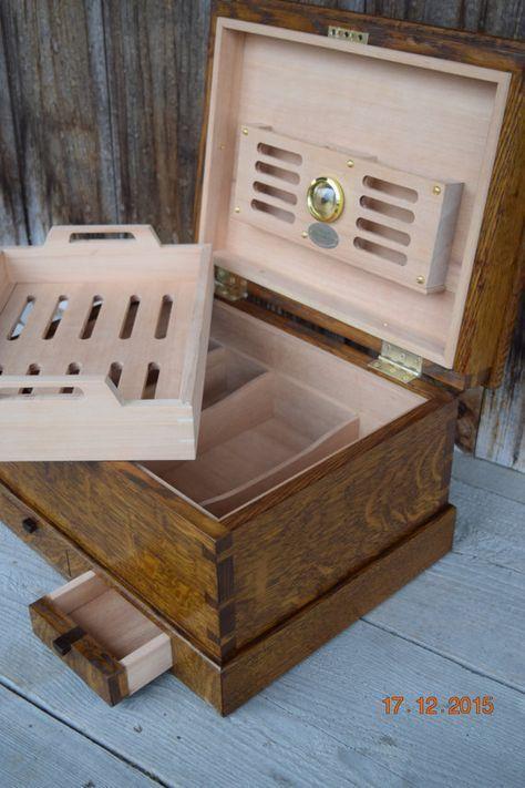 DIY Woodworking Ideas Oak Handmade Cigar Humidor #humidorwoodworkingplans