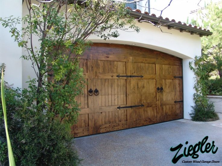 French country garage doors for the home pinterest for Wood carriage garage doors