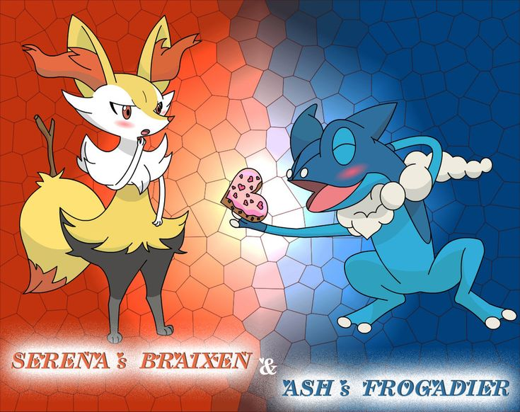 Pokemon XY Serena's Braixen and Ash's Frogadier by PhoenyxuzPrimax.deviantart.com on @DeviantArt