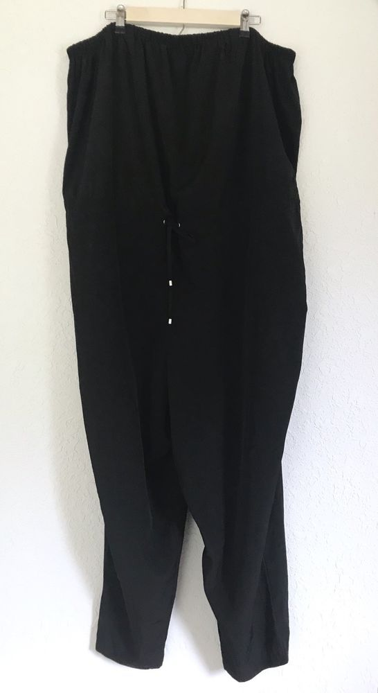 2c8137d82b7d MAURICES Strapless Black Jumpsuit Plus Size 4X 28 Tapered Leg Drawstring  Womens