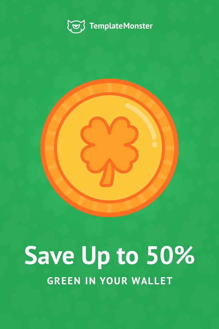 Stay  Lucky With St.Patrick Day`s Sale. Save Up to 50% Off for any Wordpress, Joomla, Shopify, Prestashop, HTML5, WooCommerce, Magento template.   #stpatricksday #saintpatrick  #WordPress #joomla #woocommerce  #magento#eCommerce #webdesign #sale #discount #offer  https://www.templatemonster.com/