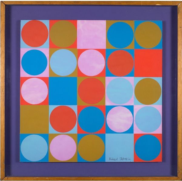 #Michael #Stokoe #Colour values: space weight and #perspective 1966 #mixedmedia #abstract #art #abstractart #modernart #Britishart #painting #circle #llfa