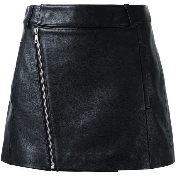 Dion Lee biker mini skirt ($865) ❤ liked on Polyvore featuring skirts, mini skirts, saias, black, leather mini skirt, short skirts, dion lee, short mini skirts and bike skirt