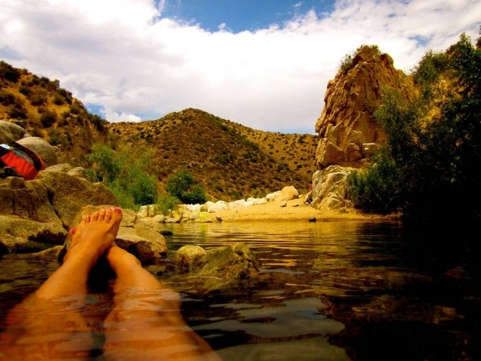 Weekend Getaway: Deep Creek Hot Springs in San Bernardino County: Take a little time out and relax in the hot springs as you enjoy the tranquil scenery. Here's a little tip - the crowds leave after it gets dark, so check it out when the sun goes down for a more secluded experience.