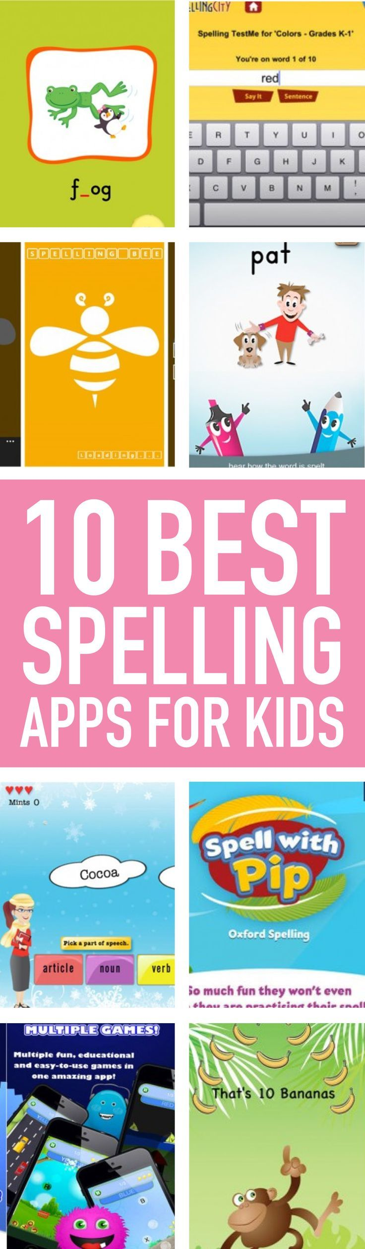 These popular spelling apps are perfect tools to help kids learn spelling, grammar and vocabulary—and have fun doing it!