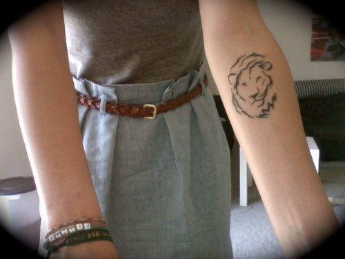 Lion Tat On Armhttp://tattooideas247.com/lion-tat-on-arm/