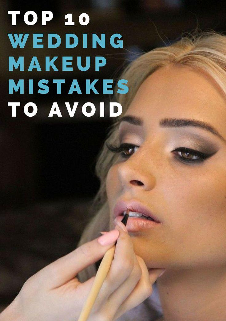 top wedding makeup mistakes