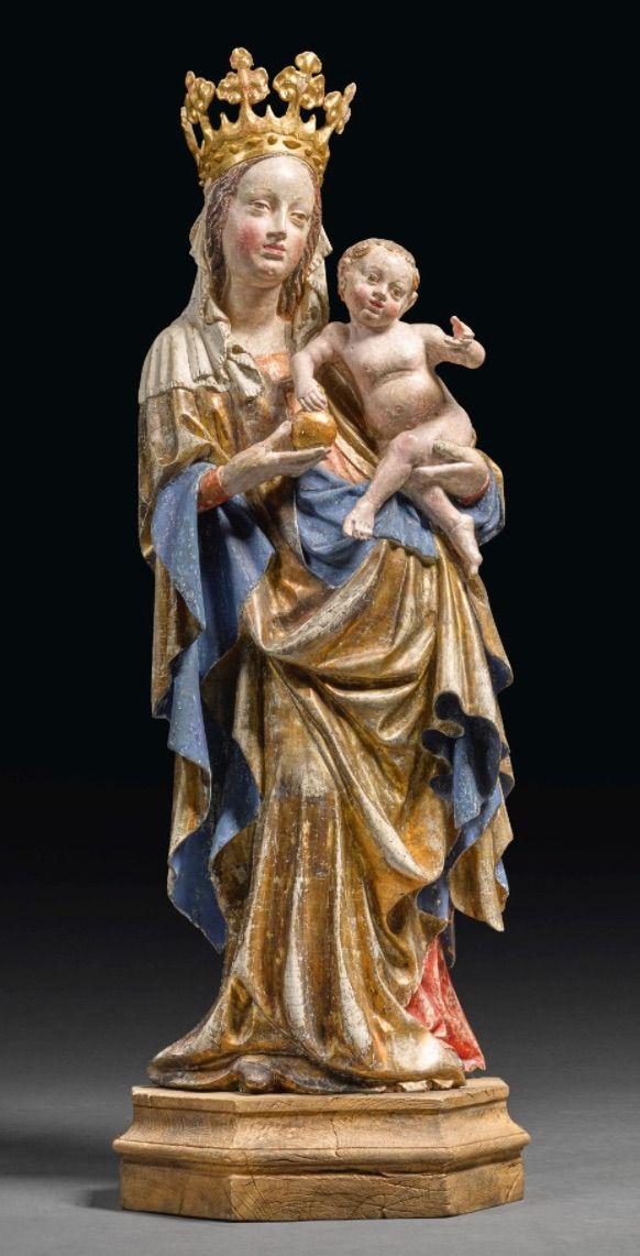 Výsledek obrázku pro socha Assumpty na půlměsíci