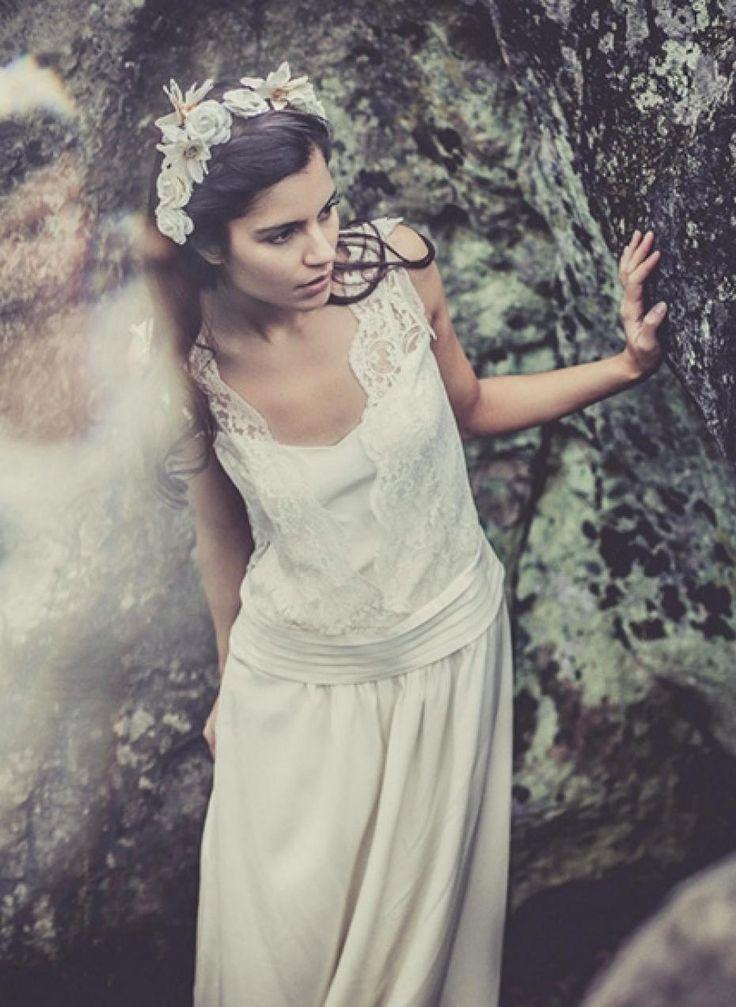 laure sagazan robe mariee mariage vintage boheme createur creatrice sur mesure chaplin