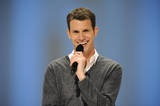 Daniel Tosh. Sense of humor is the number one quality I love in a man. Any guy who can make me laugh sometimes is a friend of mine. If you make me laugh all the time like Tosh, I am totally hot for you  :O