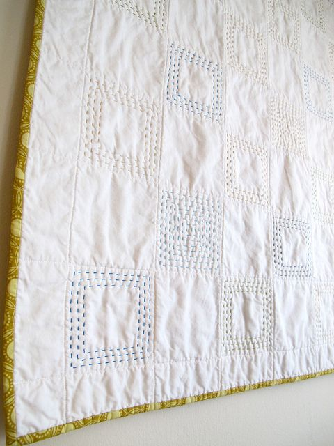 whole cloth quilt with hand stitching. I need a baby to make one of these for, in purples of course!