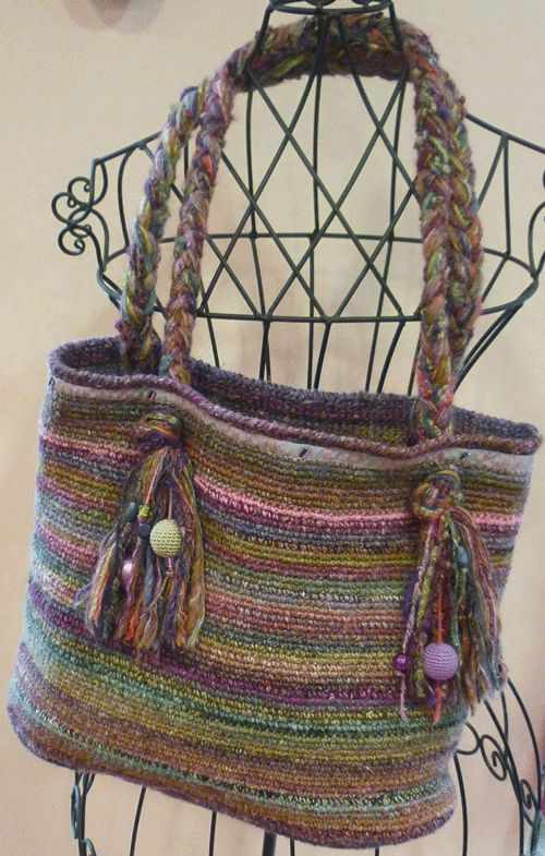Knitting Bag - kit in French. Love this too.  these are my colors!
