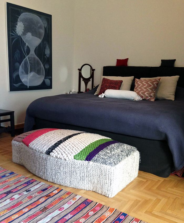 our Campana pouf at a beautiful apartment in Athens