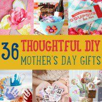 Looking for some good Mother's Day gifts? If you can't decide what gift to give Mom this year, this list of homemade Mother's Day gifts will help you out. Make your Mom feel extra special this year with these thoughtful gifts for mom.    Homemade Mother's Day Gifts