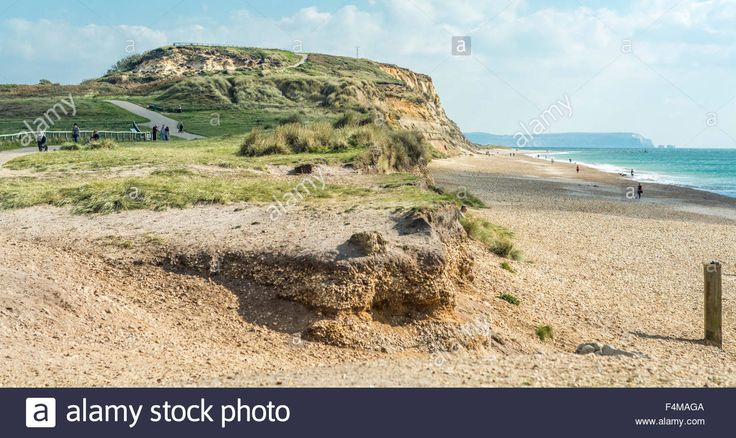 Download this stock image: Coastline at Hengistbury head, Bournemouth, South of England, UK. Taken on 1st October 2015. - F4MAGA from Alamy's library of millions of high resolution stock photos, illustrations and vectors.