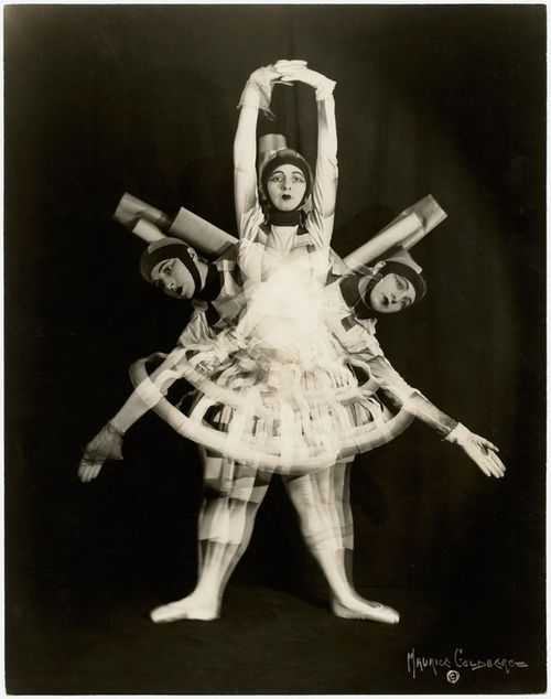 Ruth Page in her solo Ballet Scaffolding, 1928. Photo by Maurice Goldberg