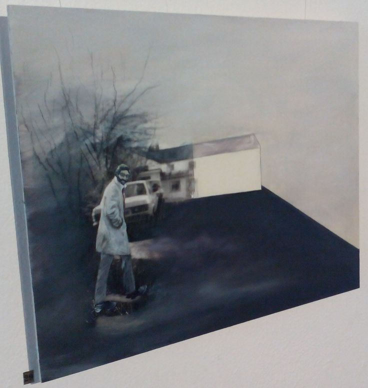 Setting the Scene, Unfinished Business, 2015 (acrylic on Panel, 40 x 50 cm), by Sarah Edmondson, €200
