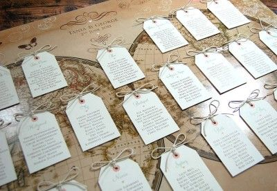 Vintage style world map table plan - http://www.toptableplanner.com/blog/world-map-wedding-seating-plans