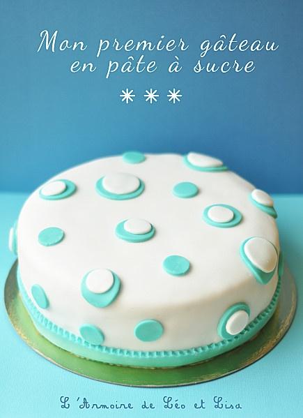 gâteau en pâte à sucre