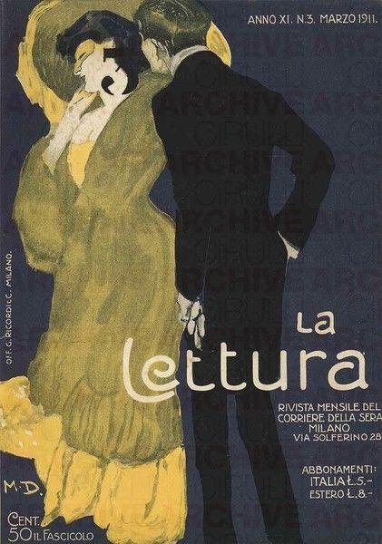 Marcello Dudovich La Lettura. Rivista mensile del Corriere della Sera, 1911