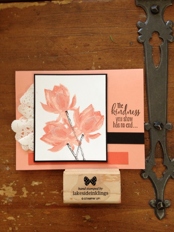Stampin' Up! Lotus Blossom, sale-a-bration 2015, sab 2015, beautiful free stamp set! www.lakesideinklings.stampinup.net