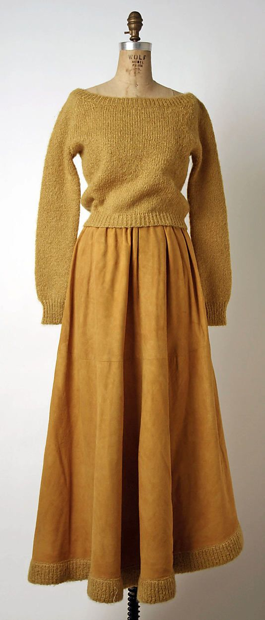 Ensemble Bonnie Cashin  (American, 1915–2000) Manufacturer: Philip Sills & Co. (American, founded 1946) Date: fall/winter 1962–63 Culture: American Medium: wool, leather.