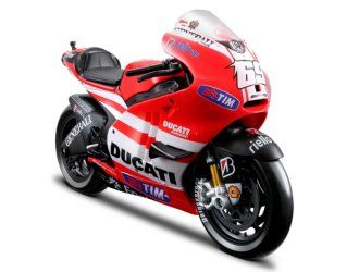 This Ducati Desmosedici (Nicky Hayden - MotoGP 2011) Diecast Model Motorcycle is Red and ...