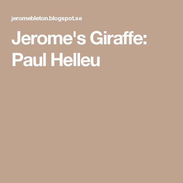 Jerome's Giraffe: Paul Helleu