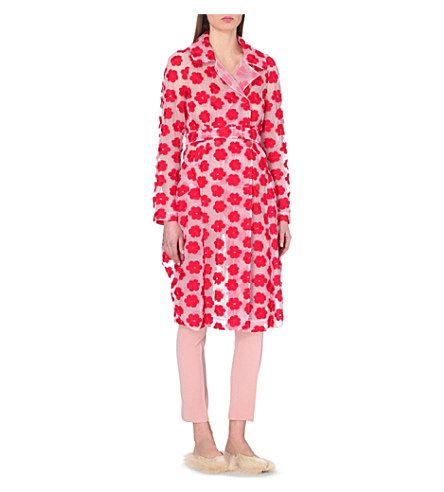SIMONE ROCHA Tulle trench coat (Red